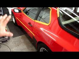 porsche old red 1984 porsche 944 guards red 2 step paint correction oxidation