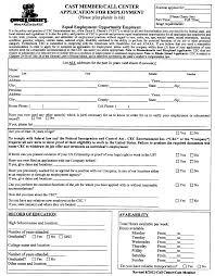free printable chuck e cheese u0027s job application form