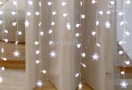 cheap 2 1 metres white snowflake curtain light led light string