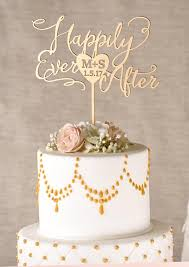 golden wedding cakes gold cake topper golden wedding cake topper happily after
