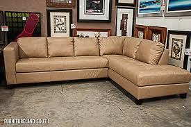 inspiring light brown leather sectional tan and white bonded