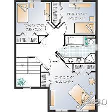 plan maison rdc 3 chambres plan de maison unifamiliale pelini w2423 dessins drummond