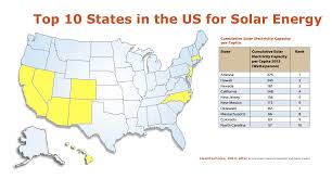 Map Of The States In United States by Top 10 Solar Energy States Per Capita Us Cleantechnica
