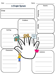 my 5 finger retell worksheet 2nd grade reading grade 1 literacy