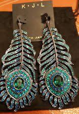 peacock feather earrings s kenneth chandelier fashion earrings ebay