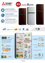 mitsubishi electric refrigerator 2 doors