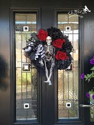 Halloween Skeleton Decorations Uk by Halloween Skeleton Wreath The Curious And Crafty World Of Suzy