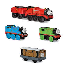friends wooden railway battery operated engine set