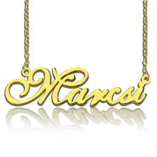 nameplate necklace plated nameplate necklace 18k gold plated