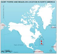 map of st and miquelon and miquelon location map in america
