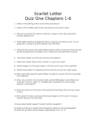 scarlet letter quiz one chapters 1 6 the scarlet letter novels