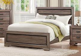 new rustic king bed using a queen headboard with a rustic king