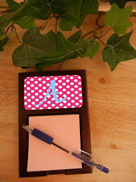 personalized mahogany sticky note holders personalize with your