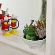 Home Decor Plants Living Room by Mini White Pots Simulation Plant Aloe Vera Immortal Finger Potted