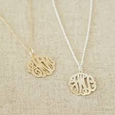 Monogram Pendant Necklace Monogram Necklaces Too Cute The Fashion Foot