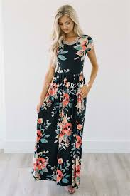 floral maxi bridesmaid dress black tropical floral maxi modest dress best and affordable