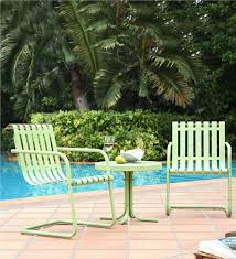 Old Metal Outdoor Furniture by Gracie Retro Metal Outdoor Side Table Collection Accessories