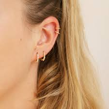 cartilage hoops small cz gold hoops tiny gold hoop earrings small hoop earrings
