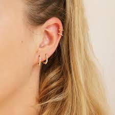 cartilage hoop earrings small cz gold hoops tiny gold hoop earrings small hoop earrings