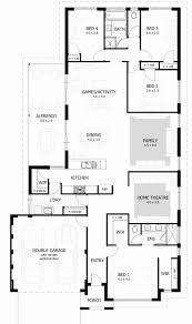 4 bedroom one story house plans one story house plans with measurements inspirational top e level