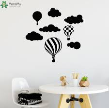 compare prices on air balloon pattern online shopping buy low kids nursery room wall decal hot air balloon clouds pattern vinyl wall sticker for kids rooms