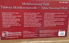 klaussner multifunctional table 639057 klaussner home furnishings multifunctional table costco weekender
