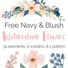 Watercolor Flowers - free watercolour flower graphics