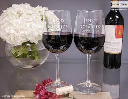 Wedding Gift Glasses Personalized Wedding Gift Wine Glasses Set Of Two Custom