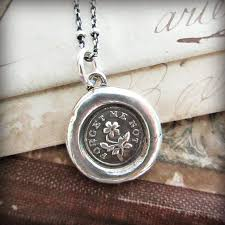wax seal jewelry forget me not wax seal pendant shannon westmeyer jewelry