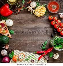 appetizing vegetarian snacks free space tasty stock photo