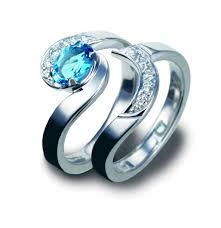 blue wedding rings blue wedding ring wedding corners
