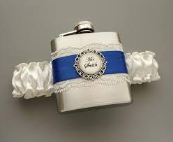 something blue wedding flask garter something blue wedding garter with personalized