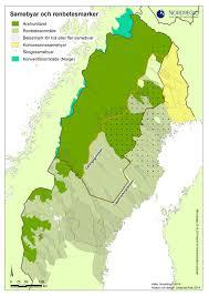 Map Sweden Sámi Reindeer Herding Villages And Herding Areas In Sweden Nordregio