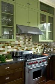 green backsplash kitchen colorful kitchen backsplash pictures stove kitchens and house
