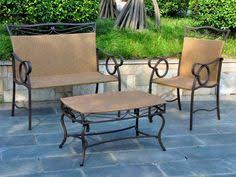 Patio Furniture Without Cushions International Home 4 Brown Wood Patio Conversation Set