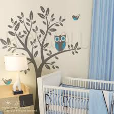 Nursery Owl Wall Decals Wall Stickers Wall Sticker Nursery Wall Decal Owl On Tree A