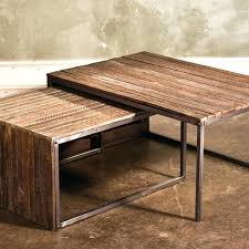 gray reclaimed wood coffee table reclaimed wood coffee table nested weathered gray thewkndedit com