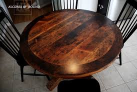 round reclaimed wood kitchen table in stouffville ontario blog