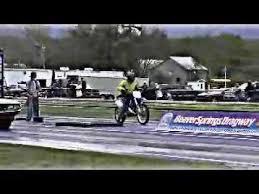 motocross drag racing yamaha yz 250 dirt bike 1 4 quarter mile beaver springs dragway race