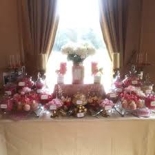 Gold Table L Wedding Dessert Table In Gold And Corals Buffets L Sweetie