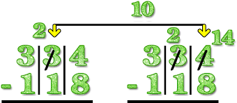 three 3 digit subtraction with regrouping borrowing for kids