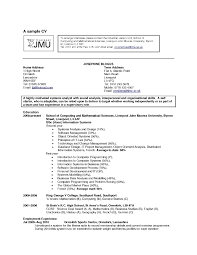 A Sample Resume Interest Resume Resume For Your Job Application