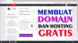 membuat website gratis idhostinger cara membuat domain dan hosting gratis youtube