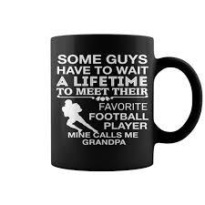 my favorite football player calls me grandpa new mug coffee mug