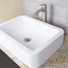 Vigo Bathroom Vanity by Bathroom Vigo Rectangular Copper Glass Rectangular Vessel Sink