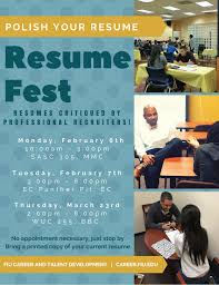 How To Prepare Resume For Job Fair by Career Fair Fiu Calendar