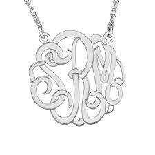 monogrammed necklace cheap classic monogram necklace 40mm item 87807 reeds jewelers