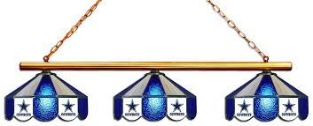 Dallas Cowboys Table Dallas Cowboys Nfl Stained Glass 3 Shade Pool Table Light