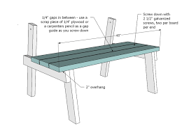 ana white picnic table that converts to benches diy projects