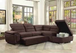 lacks emilio 3 pc sectional with pullout bed and adjustable headrest